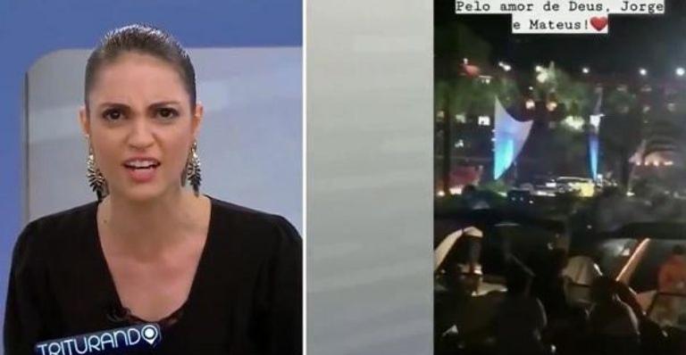 Apresentadora lamentou a morte de Rodrigo Rodrigues no programa Triturando