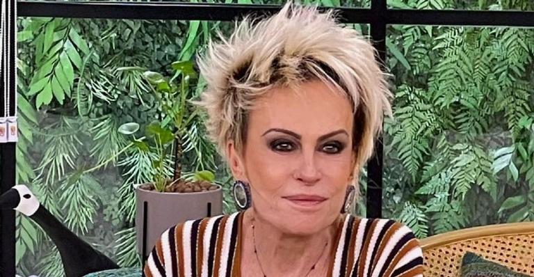 A apresentadora Ana Maria Braga compartilhou em suas redes sociais uma foto de montagem dela com uma planta: 'Entrevistando a Thaís'