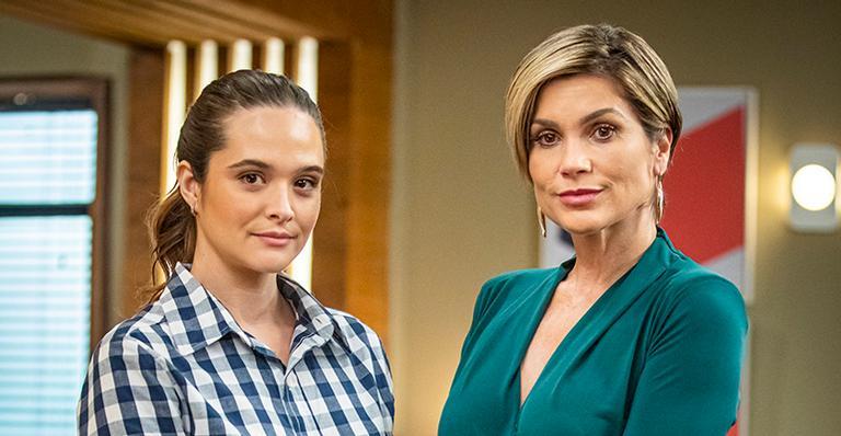 Juliana Paiva e Flávia Alessandra comemoram o sucesso do reencontro de Helena com a filha, Luna: 'Foi o dia mais emocionante da novela'