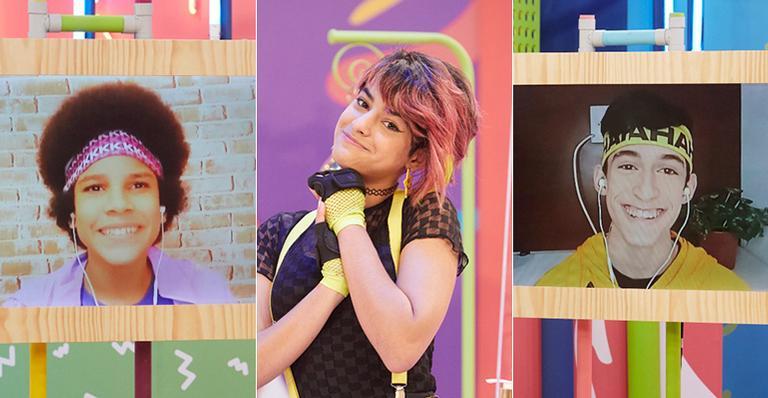 Ryancarlos de Oliveira, Isabella Casarini e Vinicius Marinho participaram das equipes na 3ª Edição do game show Rolê Gloob de Férias