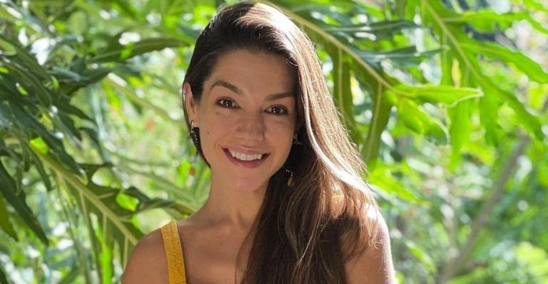A atriz compartilhou fotos da ginasta olímpica, que interpretou no início da carreira em 'Malhação', e falou sobre o desafio