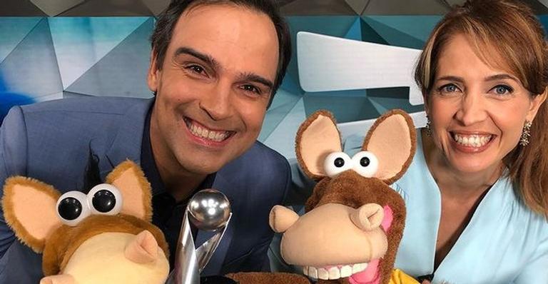 Tadeu Schmidt sairá do Fantástico para apresentar o BBB22 e a apresentadora compartilhou alguns momentos ao lado do parceiro de longa data