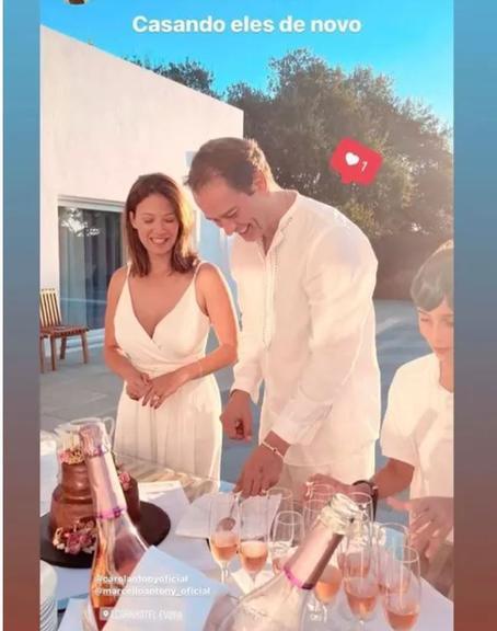 Marcello Antony e esposa renovam os votos de casamento