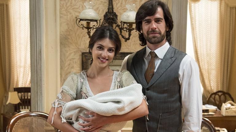 Cecília e Rômulo encontraram um bebê abandonado
