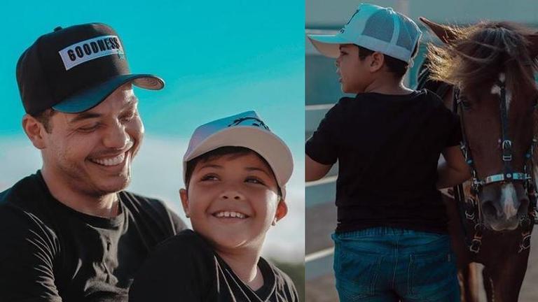 Wesley Safadão compartilhou momentos ao lado do filho Yudhi